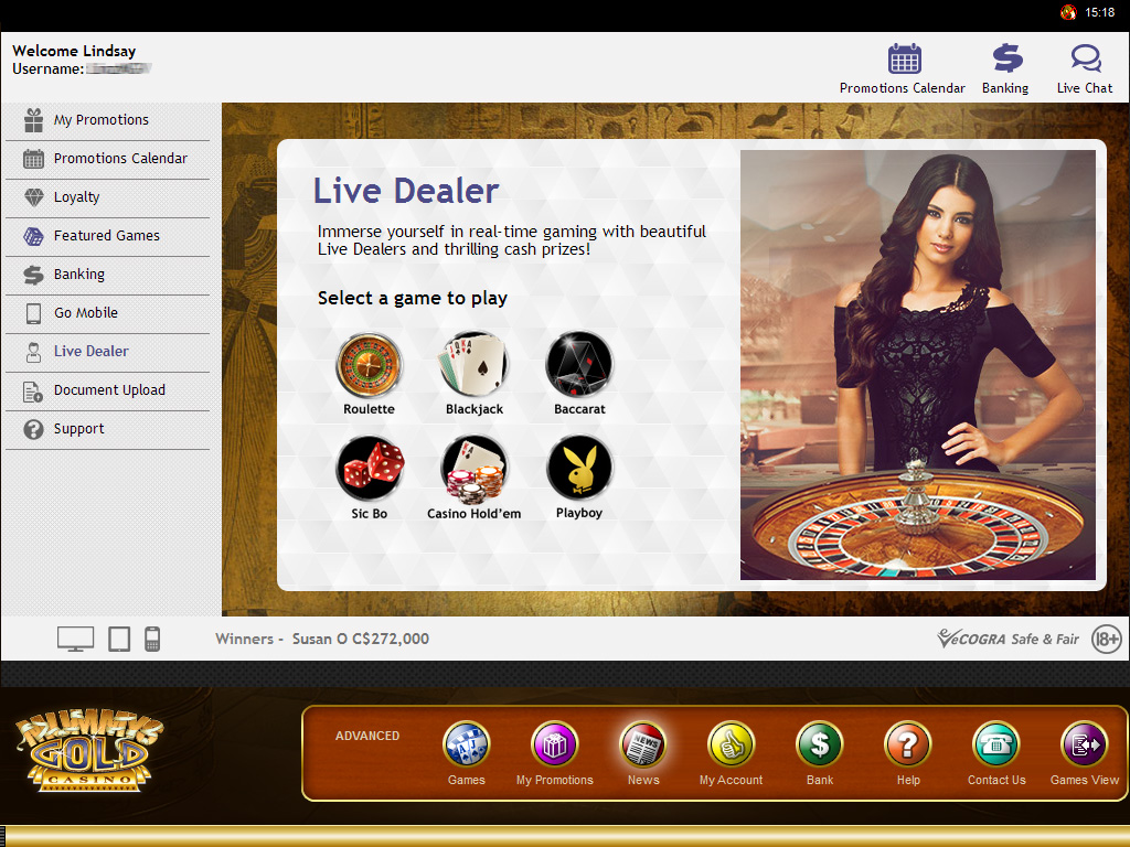 online casino dealer extra gold