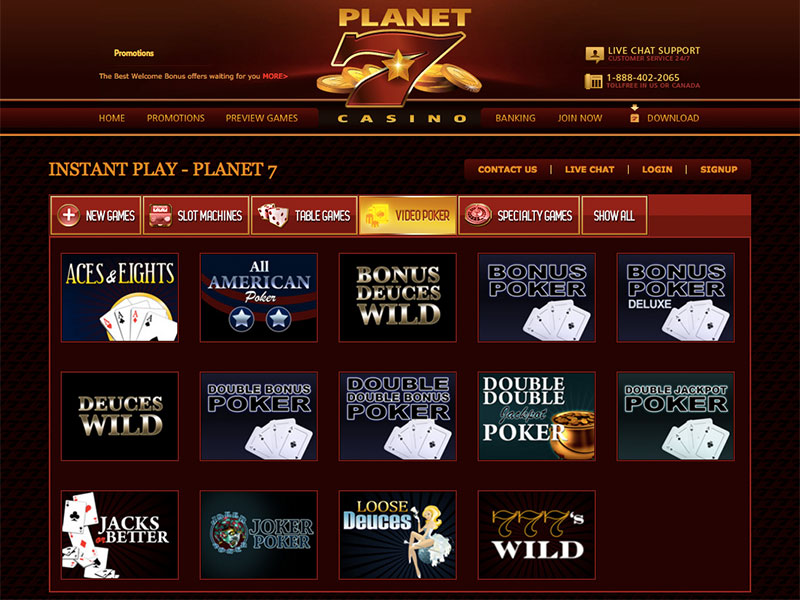 Planet7 Casino Review