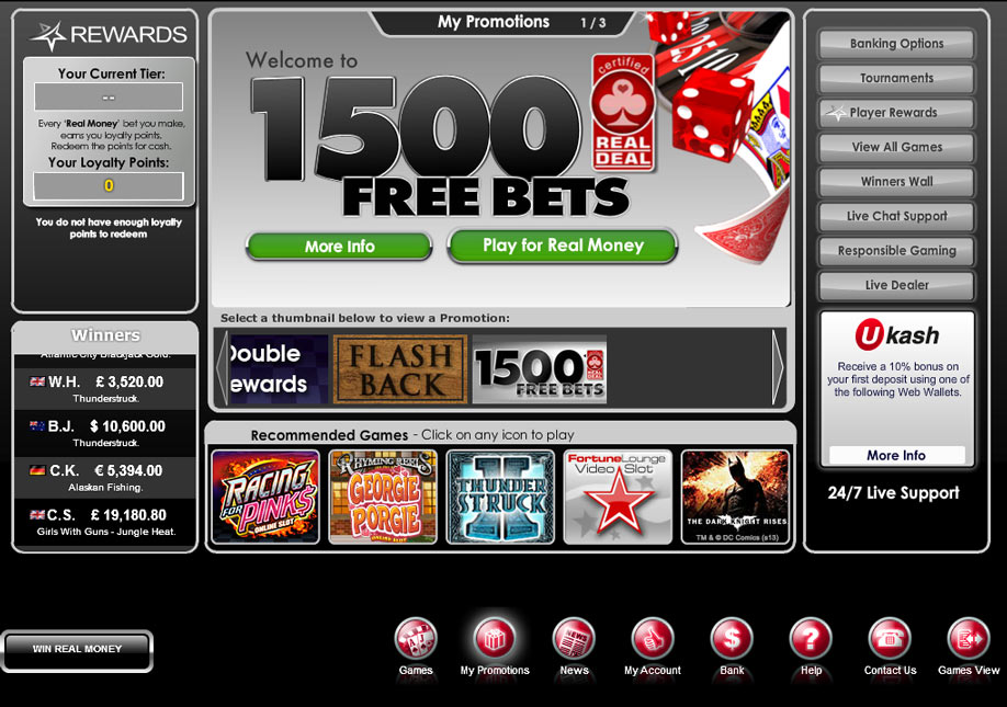 Platinum Play Flash Casino